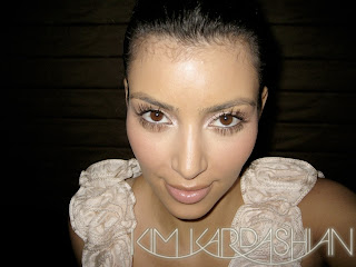 kim+kardashian+lighter+makeup2 Kim Kardashians New Lighter Makeup Look