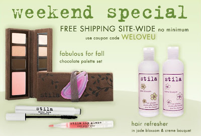 stila+weloveu Free Shipping at Stila.com   No Minimum!