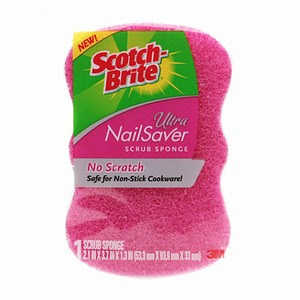 nail+saver Scotch Brite Idea For Your Manicure