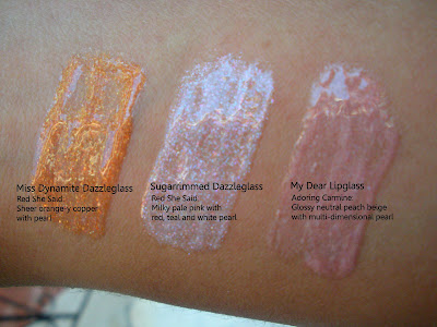 mac+miss+dynamite+sugarrimmed+my+dear MAC Ungaro, Cremesheen and Holiday Swatches