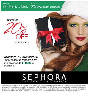 Friends, Family & Countrywomen: 20% Off at Sephora.com