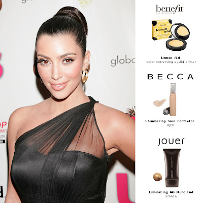 kim+kardashian+russell+simmons+party Kim Kardashians Red Carpet Makeup Essentials
