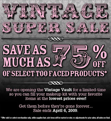 too+faced+sale Too Faced Vintage Super Sale: Save Up To 75%