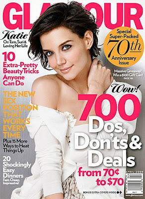 katie holmes glamour april 2009 I Can Die Now: Spoiled Pretty Is In Glamour Magazine!!!