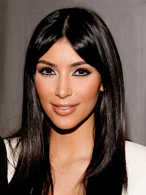 kim kardashian hair straight. Kim Kardashian Straight Hair