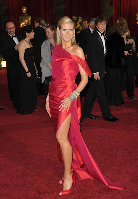 heidi klum oscars 2009 dress Oscars 2009 Beauty: Heidi Klum