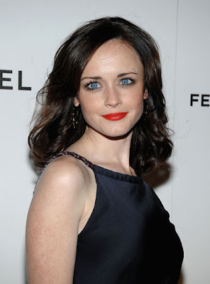 alexis+bledel+orange+red+lips Whos Afraid of the Big, Bold Lip?