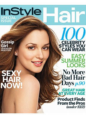 instyle+hair+issue+leighton+meester On Newstands Now: InStyle Hair Issue