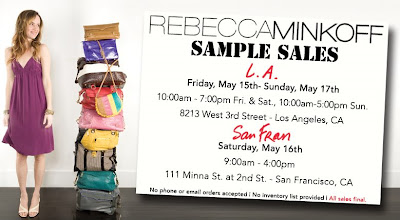 rebecca+minkoff+los+angeles+and+san+francisco+sample+sales Rebecca Minkoff West Coast Sample Sales: May 15 17