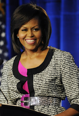 michelle+obama Michelle Obama Puts The Va Va Voom in Volunteerism
