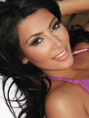 kim kardashian makeup routine. kim kardashian without makeup