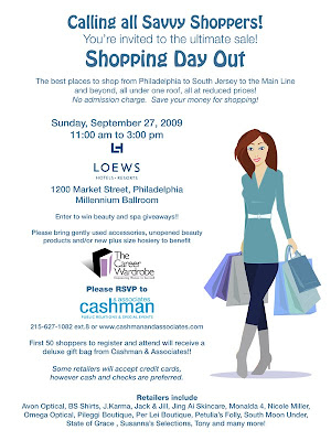cashman+and+associates+girls+day+out For My Philly Peeps: Calling All Savvy Shoppers...
