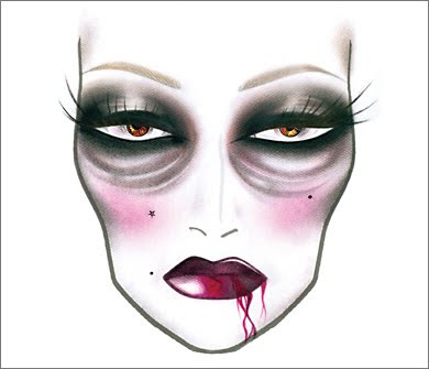 2 FrF TheLadyVamp MAC Halloween Face Charts 2009: Drop Undead Gorgeous