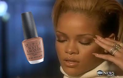 rihanna+20 20+nail+polish Rihannas 20/20 Frosty Nude Lip Look