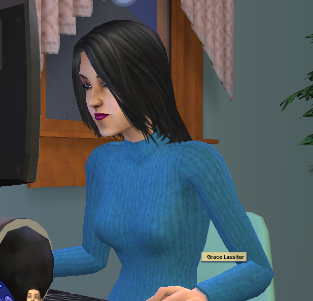 ... but I can't help but wonder what went wrong in the Sims 2 gene pool.