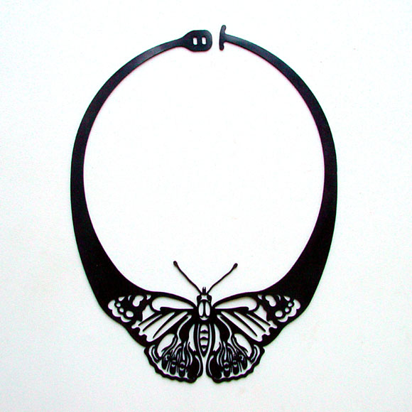 designtun, colar borboleta