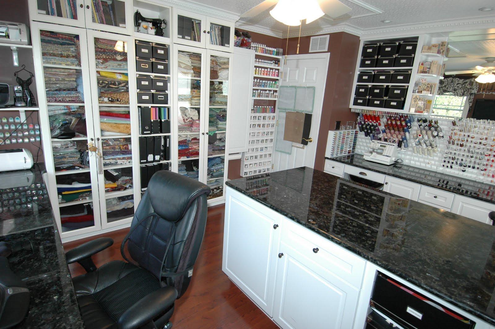 Craft room cabinets idea - Tour My Craft Room