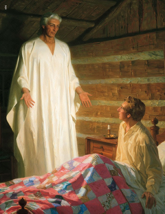 Moroni appears to the 14 year old joseph Smithworks righteous satan angel light appeared joe smith founder cult