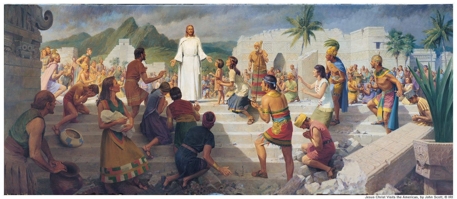 ... the Mormon bible have an image with a Mayan temple in the background