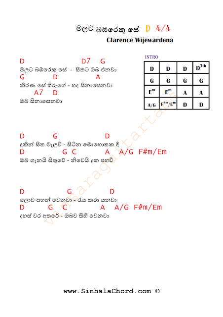 Guitar Chords For Sinhala Songs Pdf images