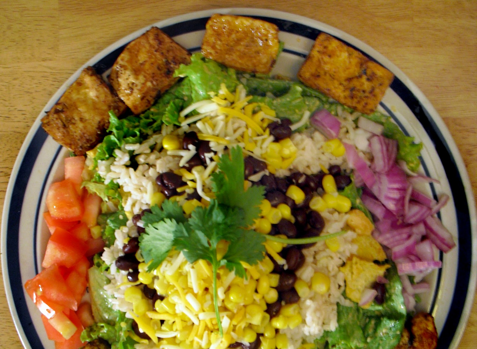 Southwest Style Tofu Taco Salad | the awesome Vegetarian