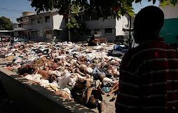 Cena macabra no Haiti