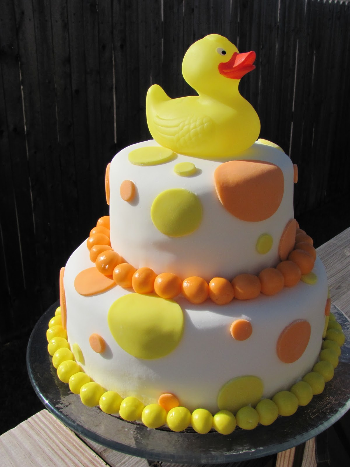 call me crazy neutral baby shower cake