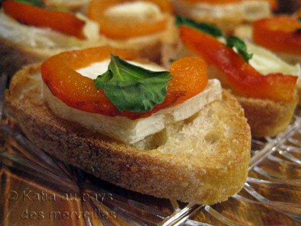 Canap s au ch vre et poivron r ti recette for Canape au fromage