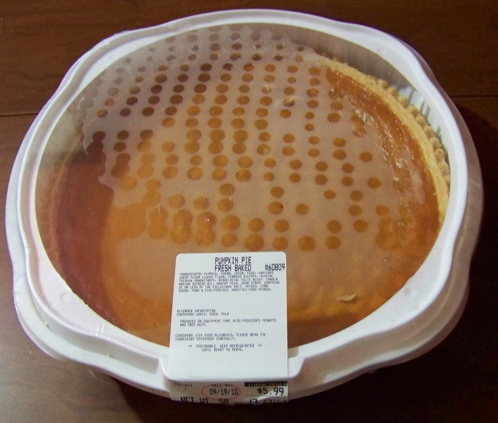 Costco Cuisine Pumpkin Pie Review On Sale With Coupon And