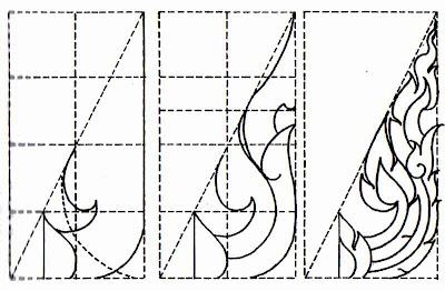 Three Heads Kranok Pattern Of Lai Thai Ancient Art