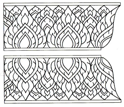 Kra-chang Basic of Lai Thai Pattern : Ancient Art Work