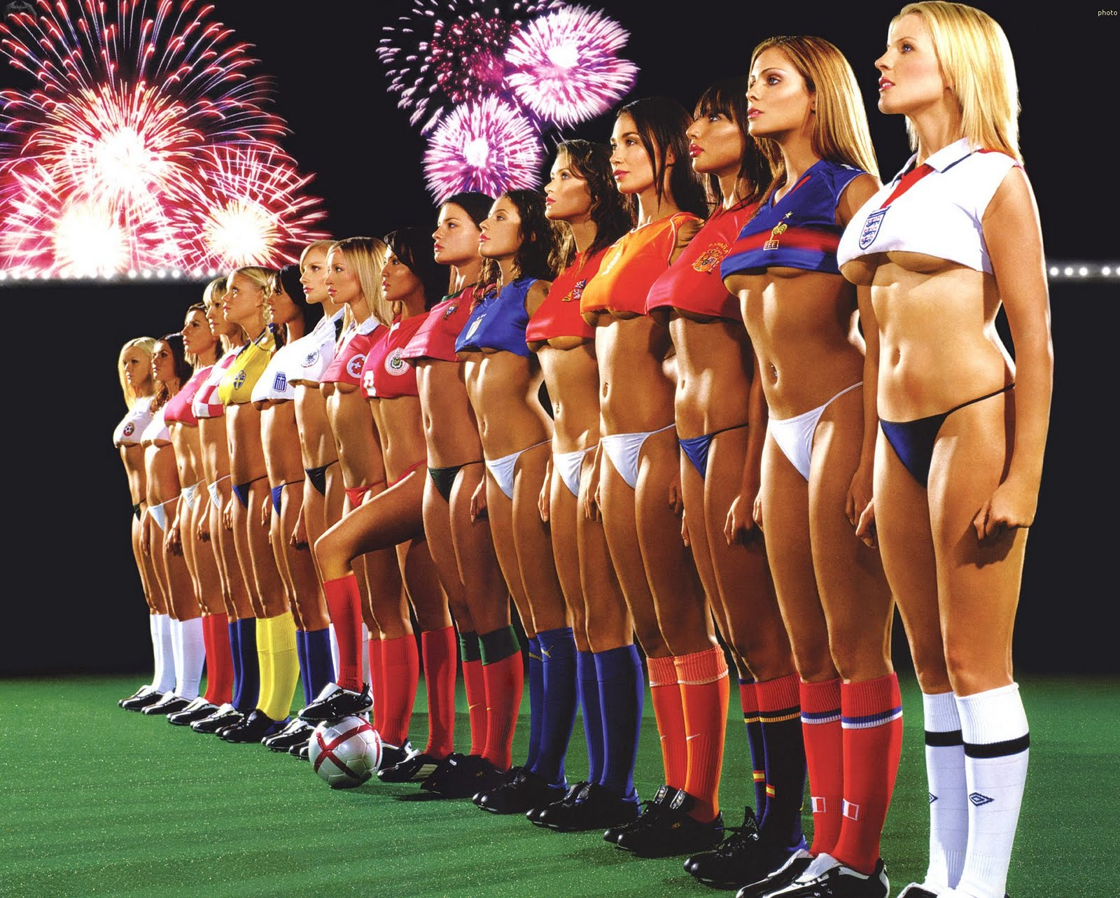 Hot Girls Soccer Team