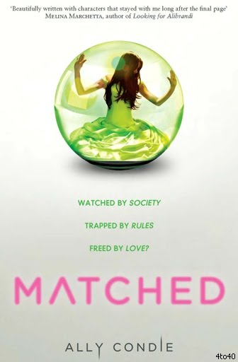The debut novel of author Ally condie, Matched is the first book in her