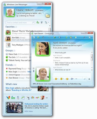Freewares Windows Live Messenger