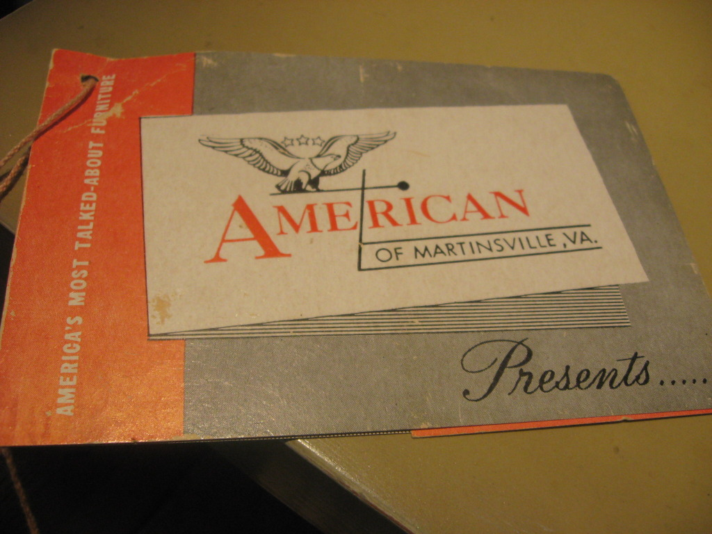 American Of Martinsville Sales Tag