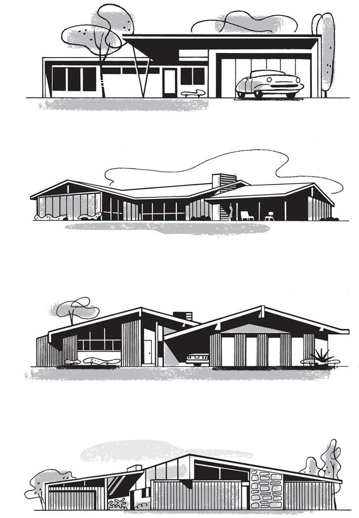 Mad for Mid-Century: Mid-Century Home Illustrations