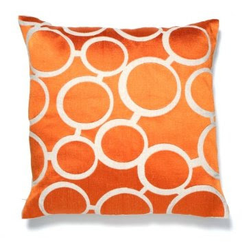 Modern Orange Pillow : Mad for Mid-Century: Mid-Century Throw Pillow