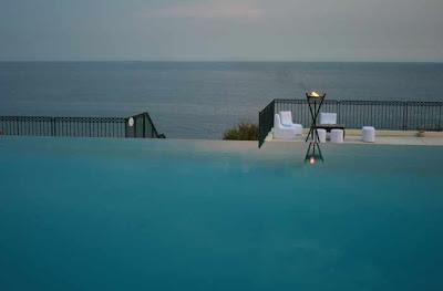 Mediterranean sea view infinity pool