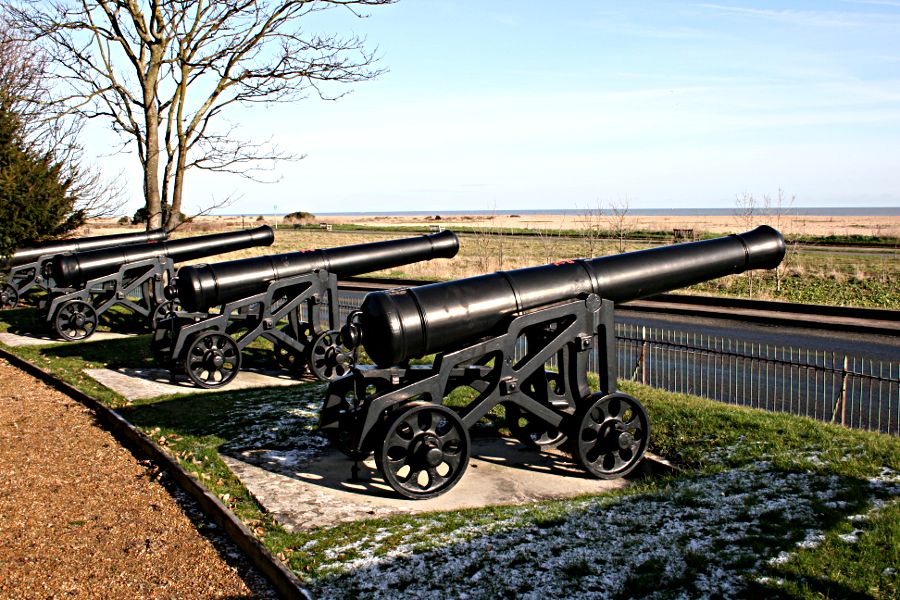 Cannon outside Walmer Castle