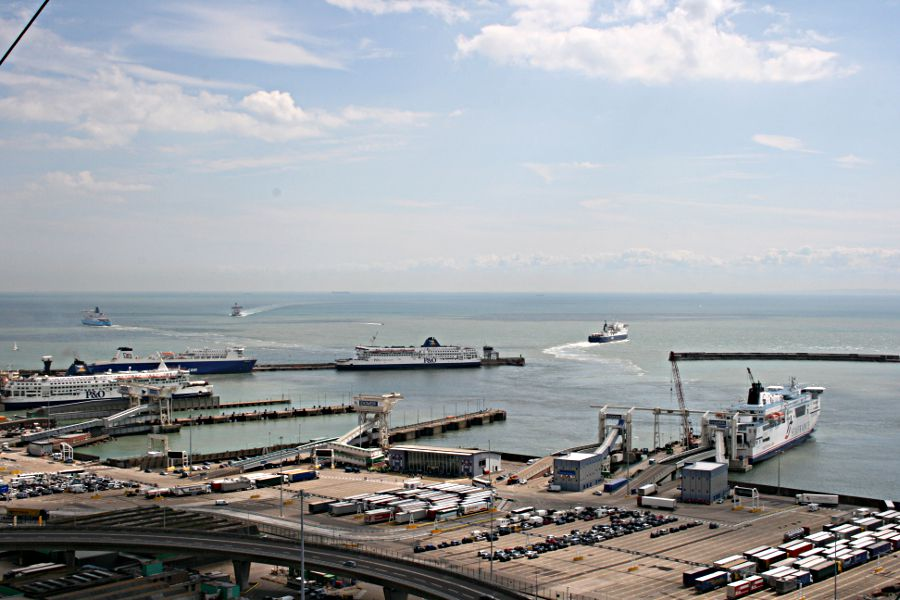 ferries going in and out of eastern docks