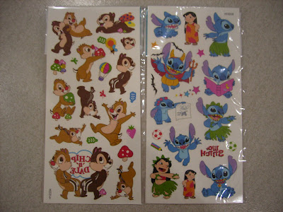 Disney Lilo & Stitch / Chip & Dale Temporary Tattoos