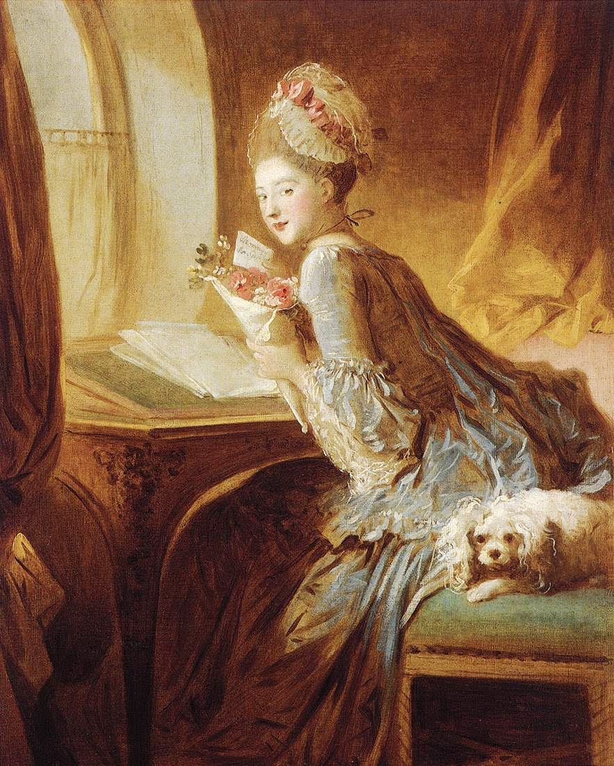 Vintage Ephemera French Rococo Painting - Rococo painting