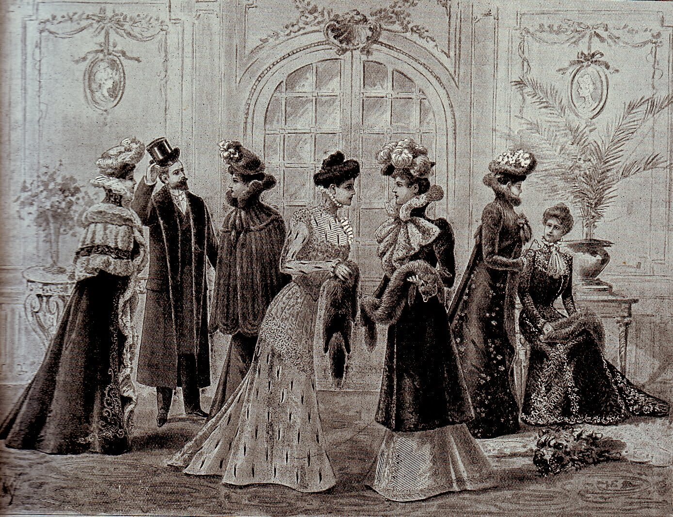 Vintage ephemera furrier s work for the world fashion for 1900 haute couture