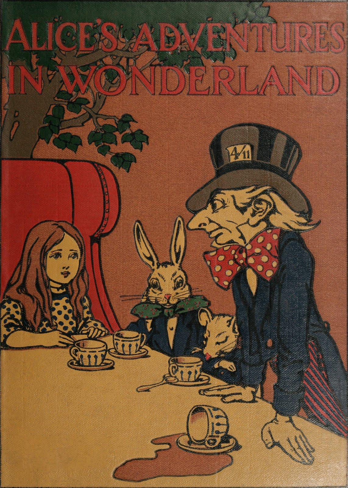 Illustrated Book Covers : Vintage ephemera book cover alice s adventures in