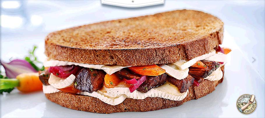 ... Short Rib and Brie Grilled Cheese Sandwich with Pickled Red Onions