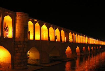 khaju-bridge-night