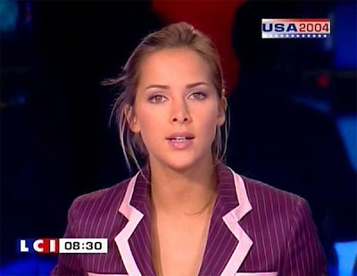 Mélissa Theuriau from LCI news