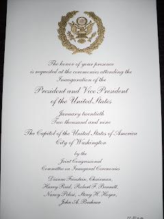 obama inauguration invitation