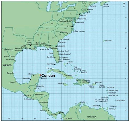Ubicacion de cancun en el mapa de mexico for Villas kabah cancun ubicacion