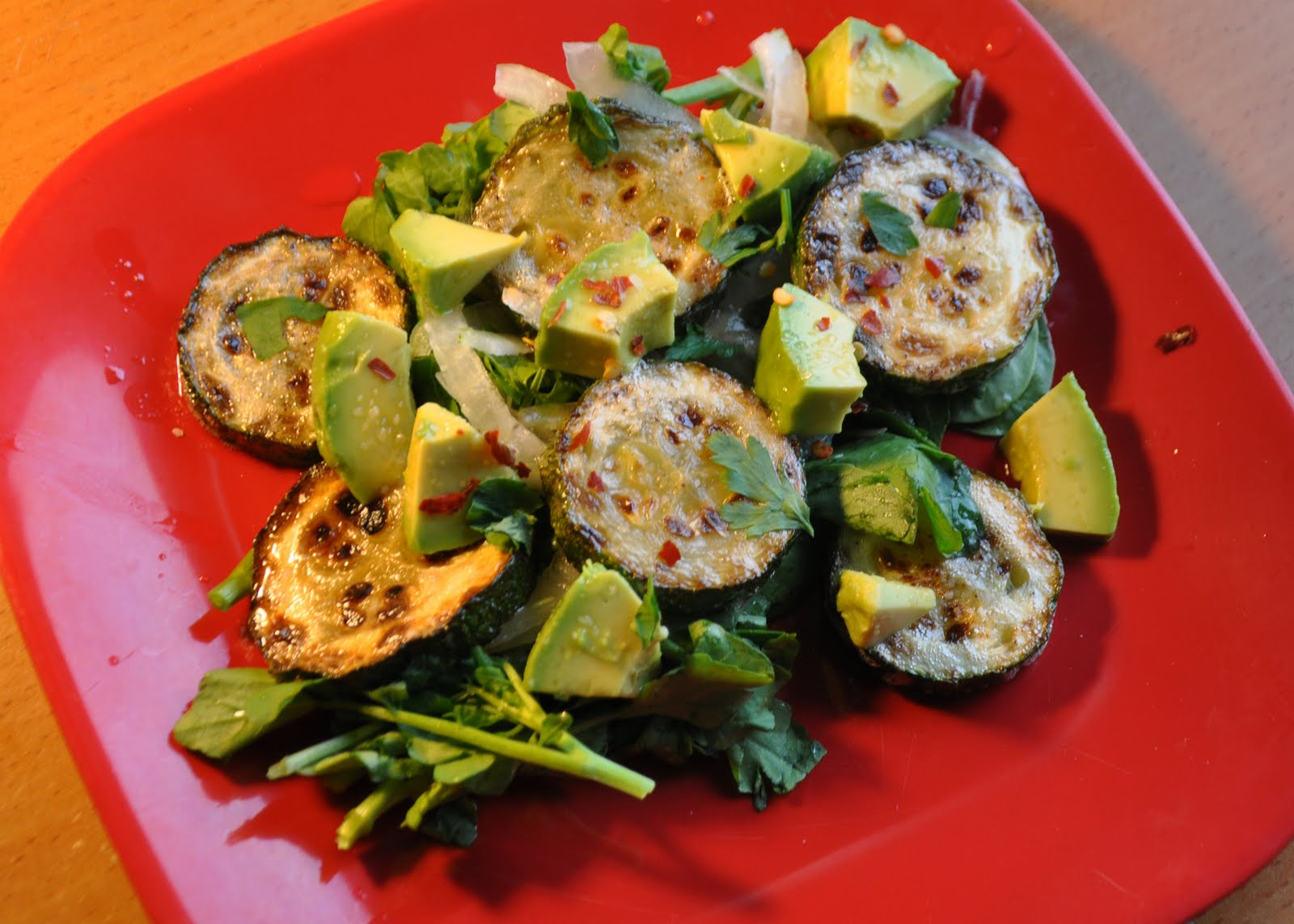 Avocado, Zucchini and Watercress Salad Recipe | RecipeStudio
